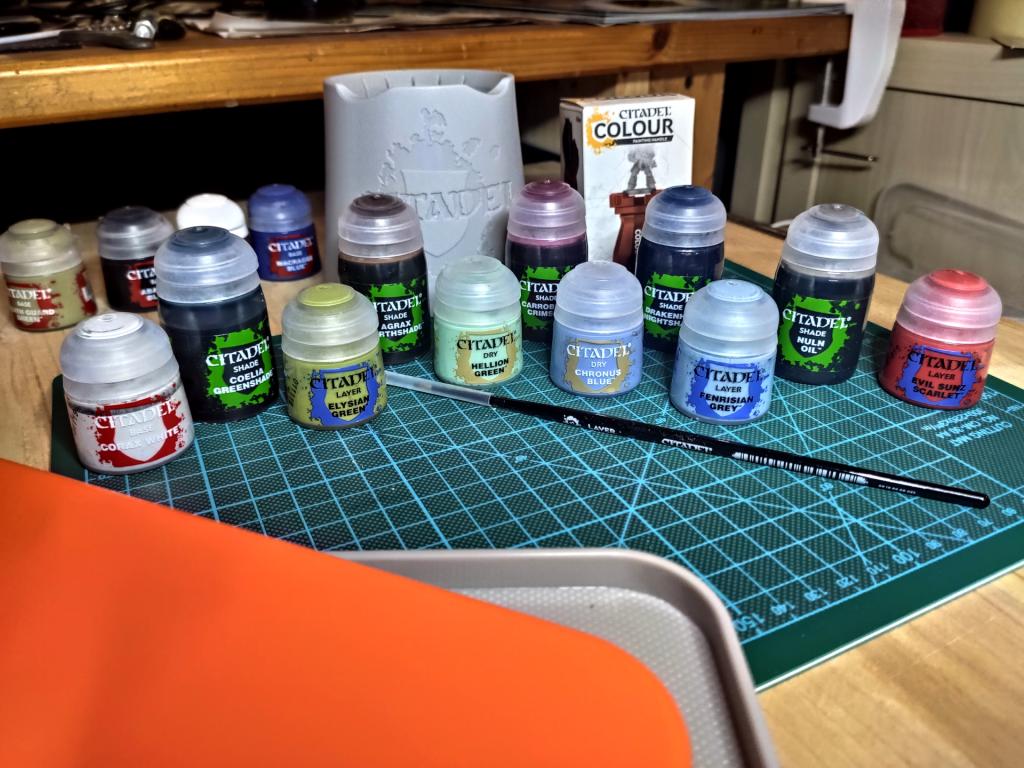 Nasspalette - Pinsel - Wassertopf - Farbtoepfe - Miniholder