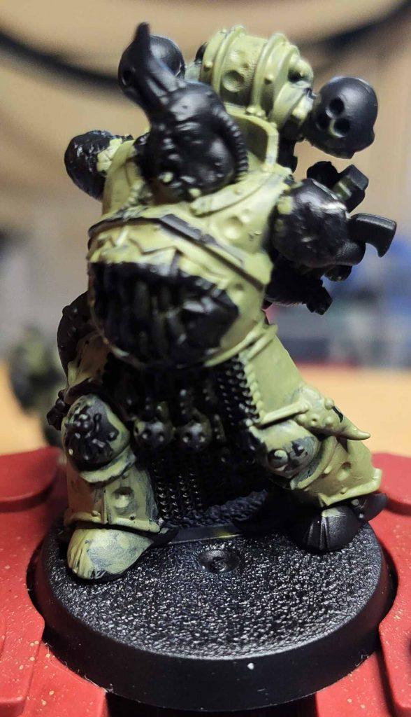 Death Guard Green auf Chaos Black die ersten beiden Schichten