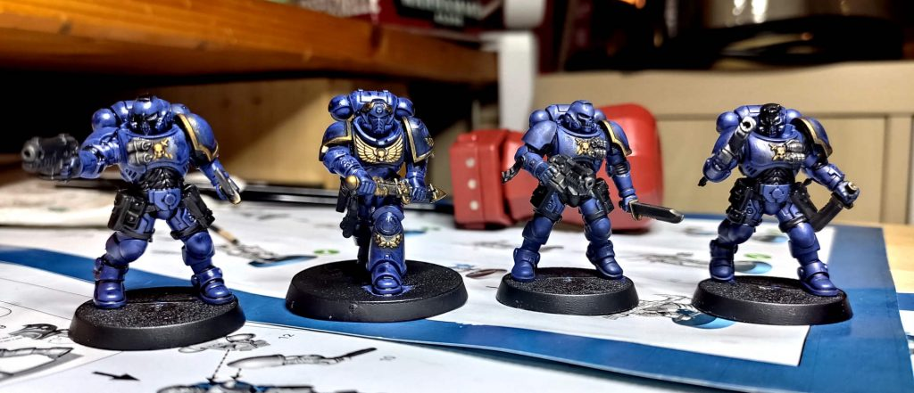Warhammer 40.000 Conquest - Ausgabe #3 && #5 - Ultramarines - Gold Silber 2nd Wash