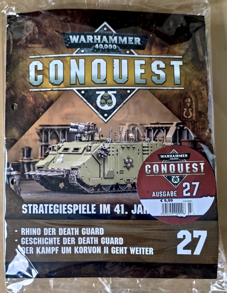 Warhammer 40.000 Conquest Ausgabe 27 - 1/2 Death Guard Chaos Rhino - Front