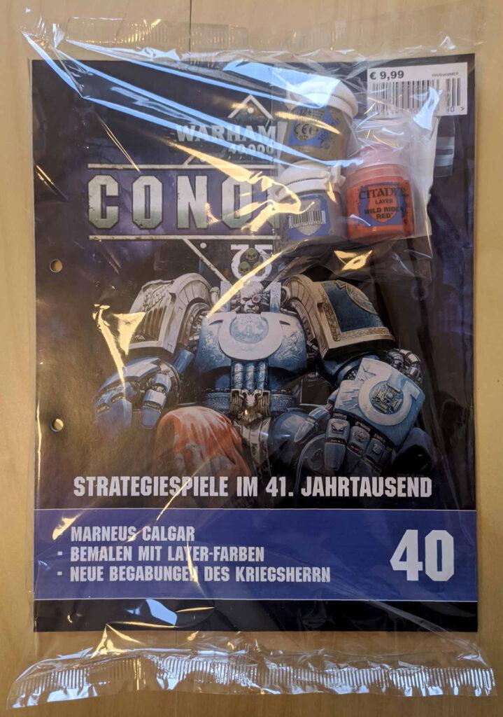 Warhammer 40.000 Conquest Ausgabe 40 - Liberator Gold, Wild Rider Red und Stormhost Silver