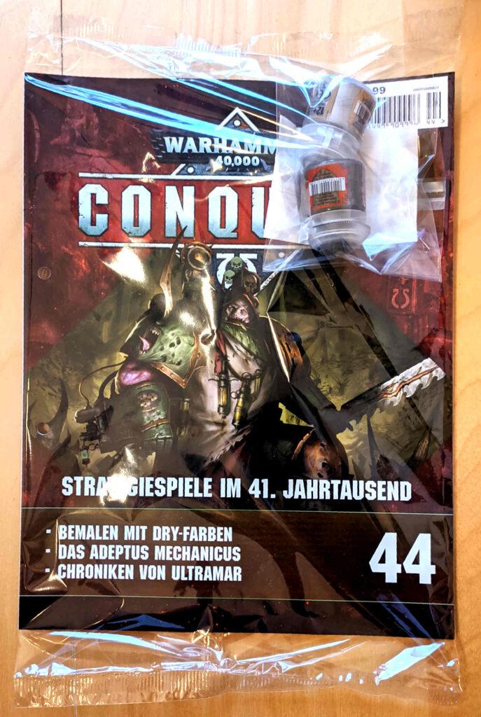 Warhammer 40.000 Conquest Ausgabe 44 - Farben Leadbelcher und Necron Compound