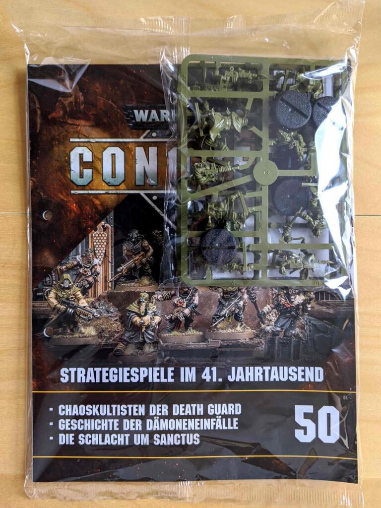 Warhammer 40.000 Conquest Ausgabe 50 - zehn Chaos Kultisten der Death Guard - Cover
