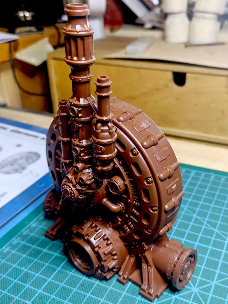 Warhammer 40.000 Conquest Ausgabe 51 - Hämotropen Reaktor - Setup side with pipes