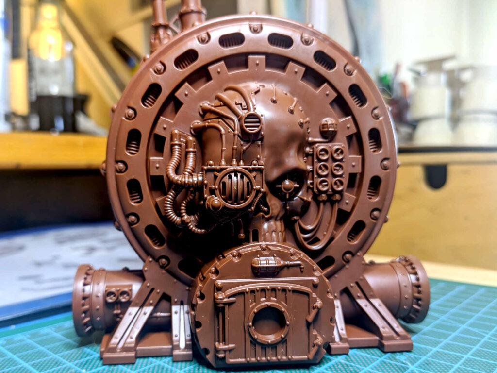 Warhammer 40.000 Conquest Ausgabe 51 - Hämotropen Reaktor - Setup side with skull