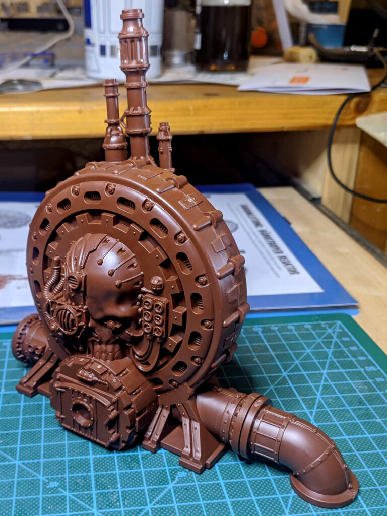 Warhammer 40.000 Conquest Ausgabe 51 - Hämotropen Reaktor - Setup side with skull and extra pipe